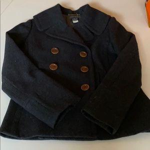 J. Crew Wool Blend Coat Black Size Small NEW